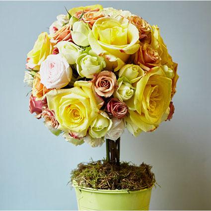 Дерево глобус из роз