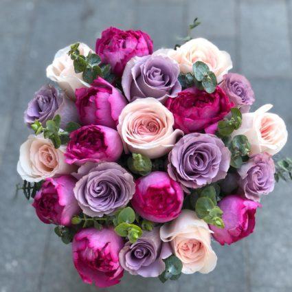 Утонченный ароматный букет из 21 розы