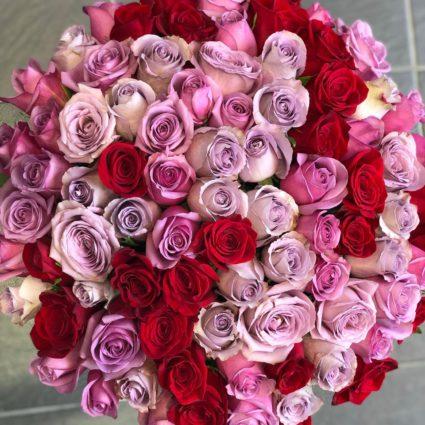 101 роза из Эквадора идеальна для любого случая