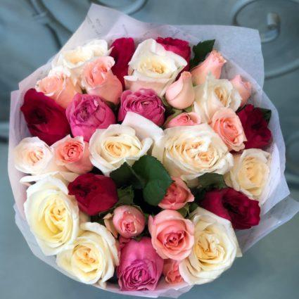 Букет из 19 роз, ароматный и изящный