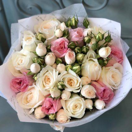 Нежный букет для любимой, 25 роз